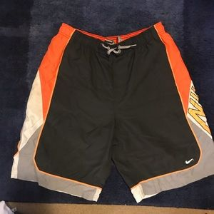 Black/Gray/Orange Nike Swimming Trunks/Shorts